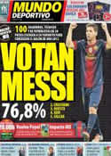 Portada Mundo Deportivo del 17 de Noviembre de 2012