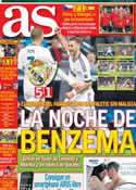 Portada diario AS del 18 de Noviembre de 2012