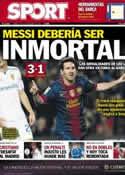 Portada diario Sport del 18 de Noviembre de 2012