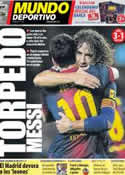 Portada Mundo Deportivo del 18 de Noviembre de 2012