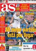 Portada diario AS del 19 de Noviembre de 2012