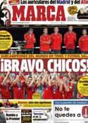 Portada diario Marca del 19 de Noviembre de 2012