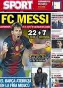 Portada diario Sport del 19 de Noviembre de 2012