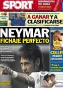 Portada diario Sport del 20 de Noviembre de 2012