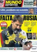 Portada Mundo Deportivo del 20 de Noviembre de 2012