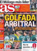 Portada diario AS del 22 de Noviembre de 2012