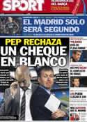 Portada diario Sport del 22 de Noviembre de 2012