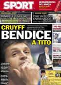 Portada diario Sport del 23 de Noviembre de 2012