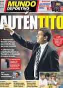 Portada Mundo Deportivo del 23 de Noviembre de 2012