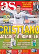 Portada diario AS del 24 de Noviembre de 2012