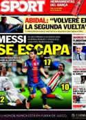 Portada diario Sport del 24 de Noviembre de 2012
