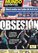 Portada Mundo Deportivo del 24 de Noviembre de 2012