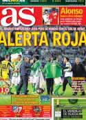 Portada diario AS del 25 de Noviembre de 2012