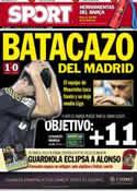Portada diario Sport del 25 de Noviembre de 2012