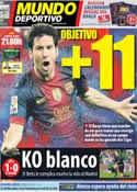 Portada Mundo Deportivo del 25 de Noviembre de 2012