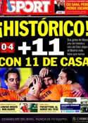 Portada diario Sport del 26 de Noviembre de 2012