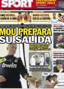 Portada diario Sport del 27 de Noviembre de 2012