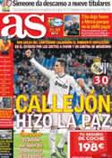 Portada diario AS del 28 de Noviembre de 2012