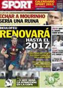 Portada diario Sport del 28 de Noviembre de 2012