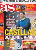Portada diario AS del 29 de Noviembre de 2012
