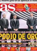 Portada diario AS del 30 de Noviembre de 2012