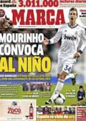 Portada diario Marca del 30 de Noviembre de 2012