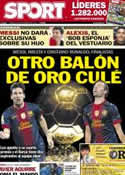 Portada diario Sport del 30 de Noviembre de 2012