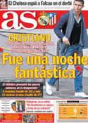 Portada diario AS del 3 de Diciembre de 2012