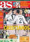 Portada diario AS del 5 de Diciembre de 2012
