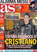 Portada diario AS del 6 de Diciembre de 2012