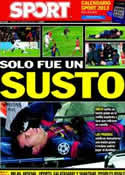 Portada diario Sport del 6 de Diciembre de 2012