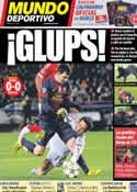 Portada Mundo Deportivo del 6 de Diciembre de 2012