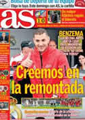 Portada diario AS del 7 de Diciembre de 2012