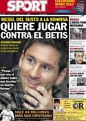 Portada diario Sport del 7 de Diciembre de 2012