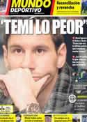 Portada Mundo Deportivo del 7 de Diciembre de 2012