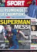 Portada diario Sport del 8 de Diciembre de 2012
