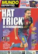 Portada Mundo Deportivo del 8 de Diciembre de 2012