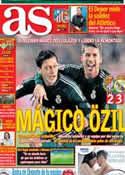Portada diario AS del 9 de Diciembre de 2012