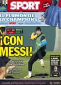 Portada diario Sport del 9 de Diciembre de 2012