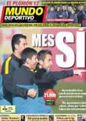 Portada Mundo Deportivo del 9 de Diciembre de 2012