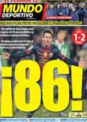 Portada Mundo Deportivo del 10 de Diciembre de 2012