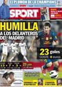 Portada diario Sport del 11 de Diciembre de 2012