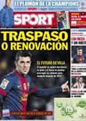 Portada diario Sport del 12 de Diciembre de 2012