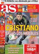Portada diario AS del 13 de Diciembre de 2012