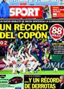 Portada diario Sport del 13 de Diciembre de 2012