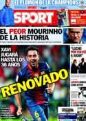 Portada diario Sport del 14 de Diciembre de 2012