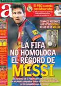 Portada diario AS del 15 de Diciembre de 2012