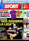 Portada diario Sport del 15 de Diciembre de 2012