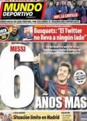 Portada Mundo Deportivo del 15 de Diciembre de 2012