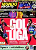 Portada Mundo Deportivo del 16 de Diciembre de 2012